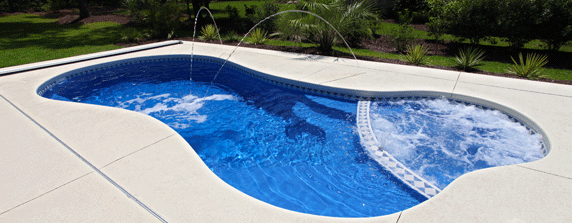 Extra large small fiberglass pools san juan pools for Inground pool dealers
