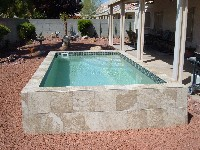 Interesting Above Ground Fiberglass Pools Pool Deckhill In